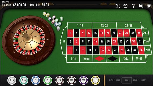 Rouletteの画面